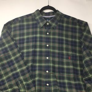 Ralph Lauren Polo Button Plaid Flannel XXL Big